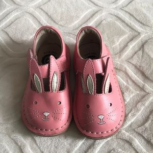 Livie and Luca toddler pink bunny shoes